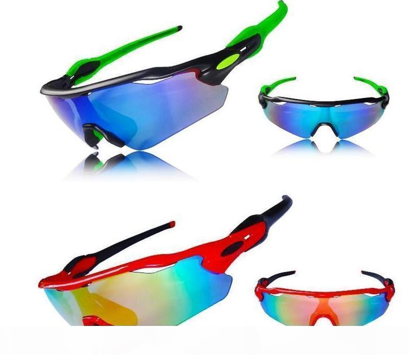 2018 Radar EV occhiali da sole 5 paio di lenti da uomo in bicicletta Occhiali da sole sport all'aria aperta in bicicletta radar polarizzati occhiali da sole di vetro di marca
