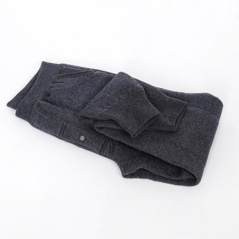3Wol8 трехслойный утолщенный с брюками среднего кармана верблюд волокно высокой талии плотно теплой теплой возраста мужчины женщины шерсти брюки леггинсы