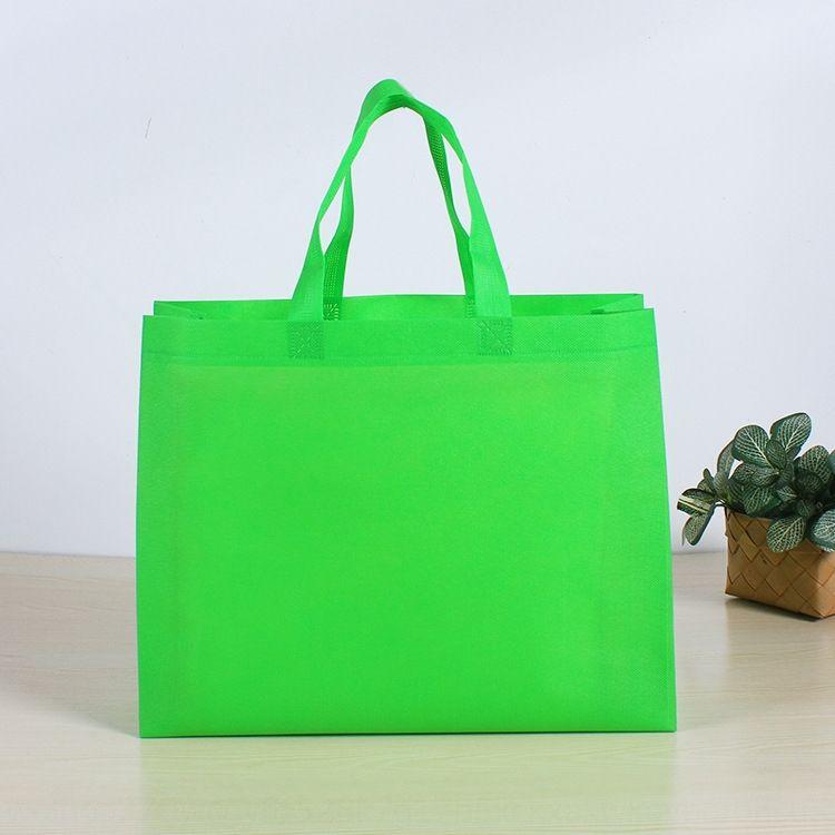 Non tessuto non tessuto di shopping stampa a mano shopping bag pubblicitaria usa e getta di produzione bag
