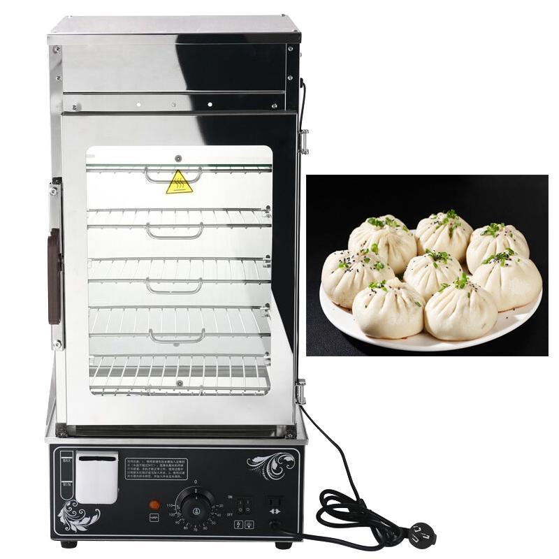 machine à pain cuit à la vapeur alimentaire tête de petit pain commercial en verre trempé machine à tête pain vapeur électrique en acier inoxydable alimentaire tête