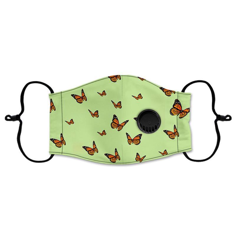 Moda de la mariposa de la mascarilla Señora a prueba de polvo respirable respiración máscara protectora de la válvula para las mujeres puede Insertar filtro de DHL envío DWF184