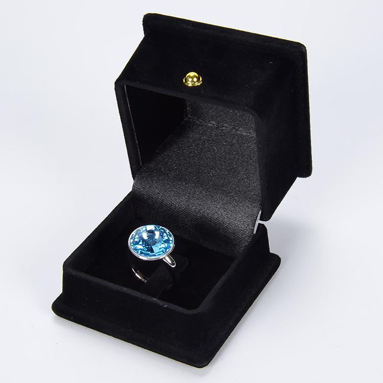 مربع OEM / ODM مخصص عرض التعبئة والتغليف أقراط يتدفقون الفاخرة والمجوهرات السوداء هدية مربع