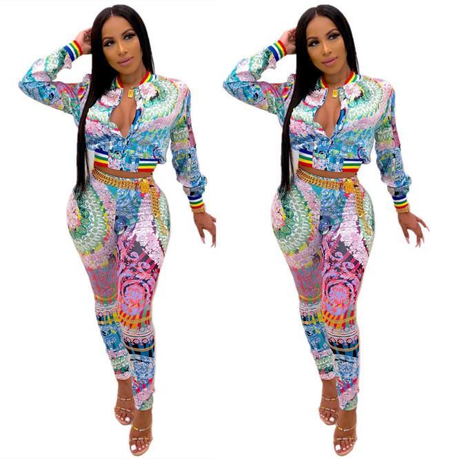 Femmes Hommes Survêtements Lettre Femmes Mode Hommes Costume Designer tricotée Veste Pantalon Ensembles Top 2020 Vêtements Femme Taille S-2XL