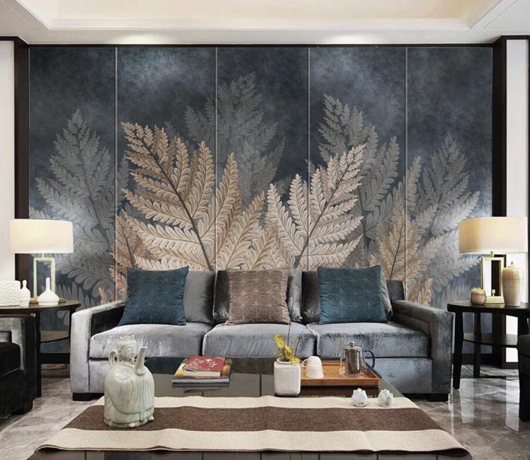 Encargo del papel pintado murales modernos dormitorios hojas de la planta del arte de la pared televisión de fondo la decoración del hogar salón fondo de pantalla 3d