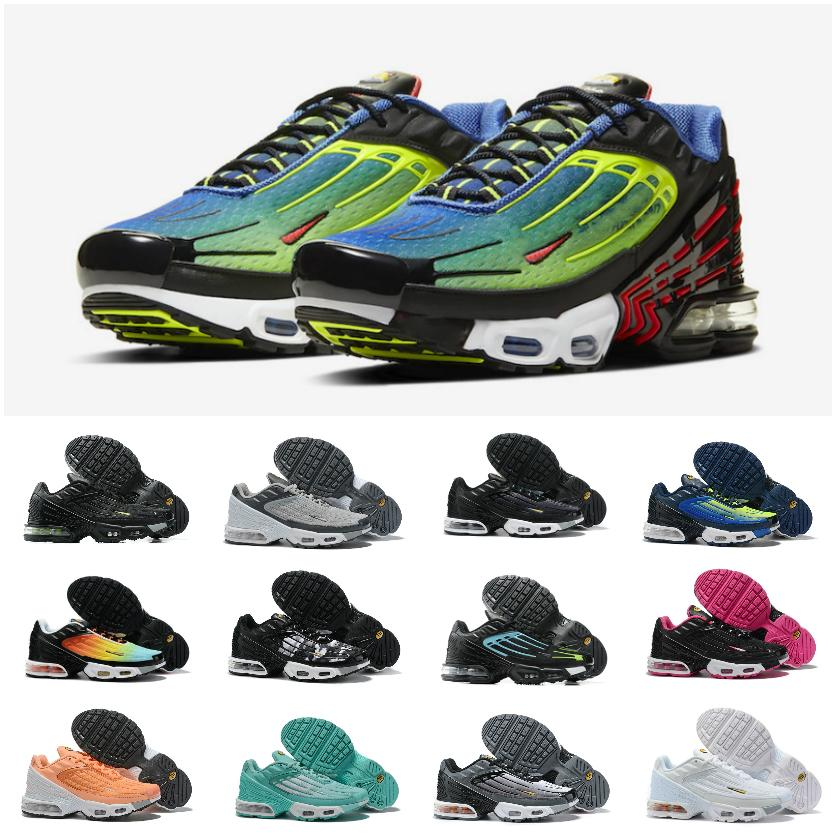 2020 Tuned Air Plus 3 Mens Running Shoes Cheap Tn Plus 3 Hyper Violet Black Red Bright Ceramic Triple Black White Chaussures Maxes Sneakers