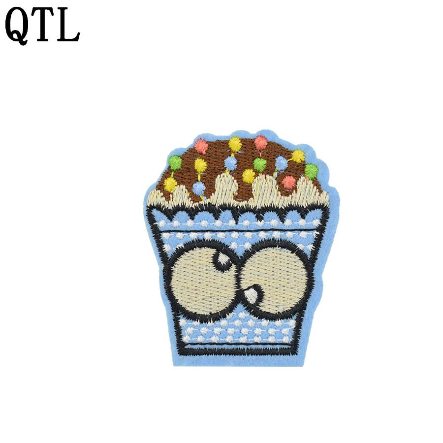10 PCS Funny Embroidery Big Eyes Ice Cream Patch Badge for Teens Iron on Transfer Embroidery Patch for Clothes Jeans Sweater Sew Accessories