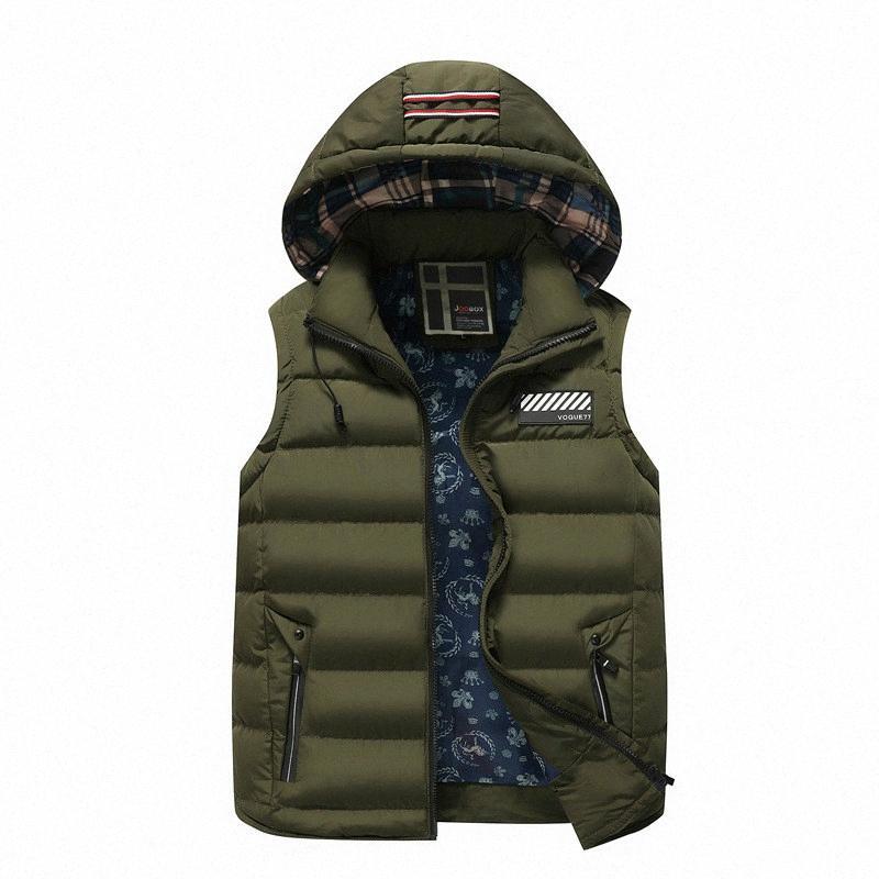 2018 maniche nuovi uomini di modo gilet staccabile Cap Moncler Uomo Autunno Inverno caldo panciotto giacca a vento maschile più il formato 3XL rB3k #