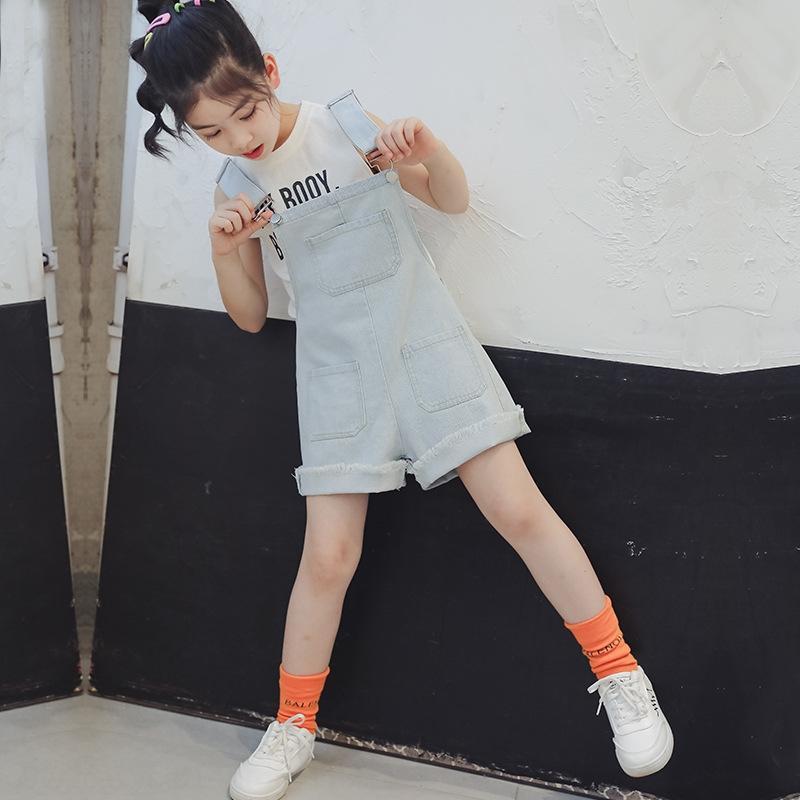 WDa7E pantalon jarretelle super style étranger pour enfants 2020 été nouveau pantalon fronde moyen Shorts et pantalons et enfants coréens grande sty