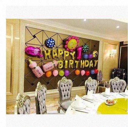 Vente en gros 16 lettres pouces Numéro ont un choix en aluminium Film d'or Ballon Joyeux Anniversaire Décoration Jubilant Ballons Ballons PhIW #