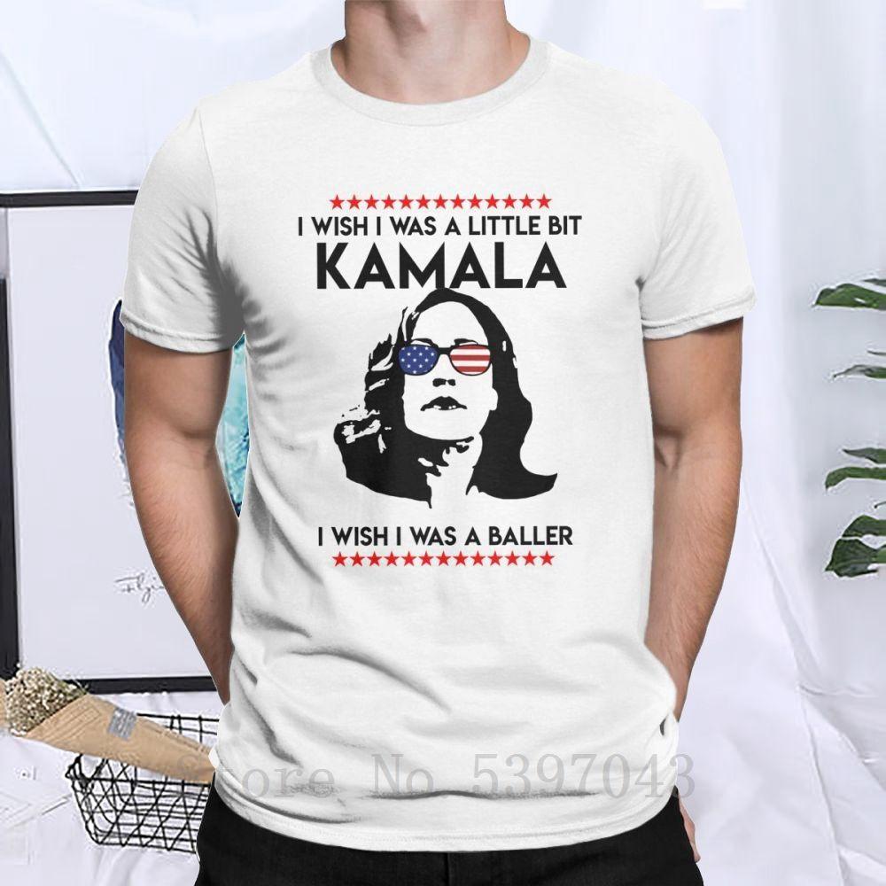 Men I Wished I Was Little Bit Kamala Harris T-Shirts President 2020 Clothing Novelty Tops 100% Tees 4x 5x 6x T Shirt Cotton