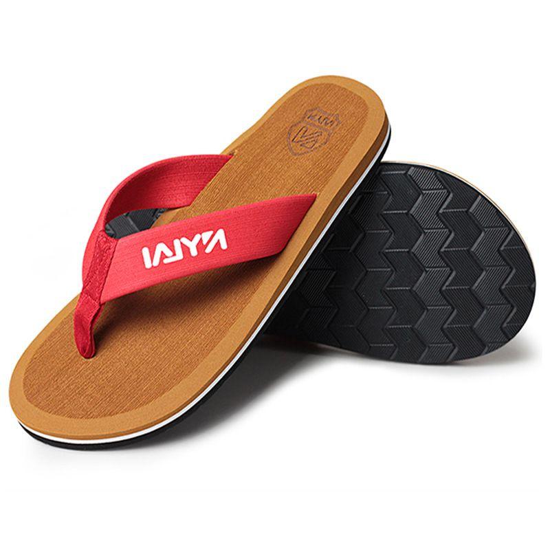 Flip-flop più pistoni degli uomini di dimensioni antisdrucciolevoli ciabatte da spiaggia scarpe di moda degli uomini extra large di