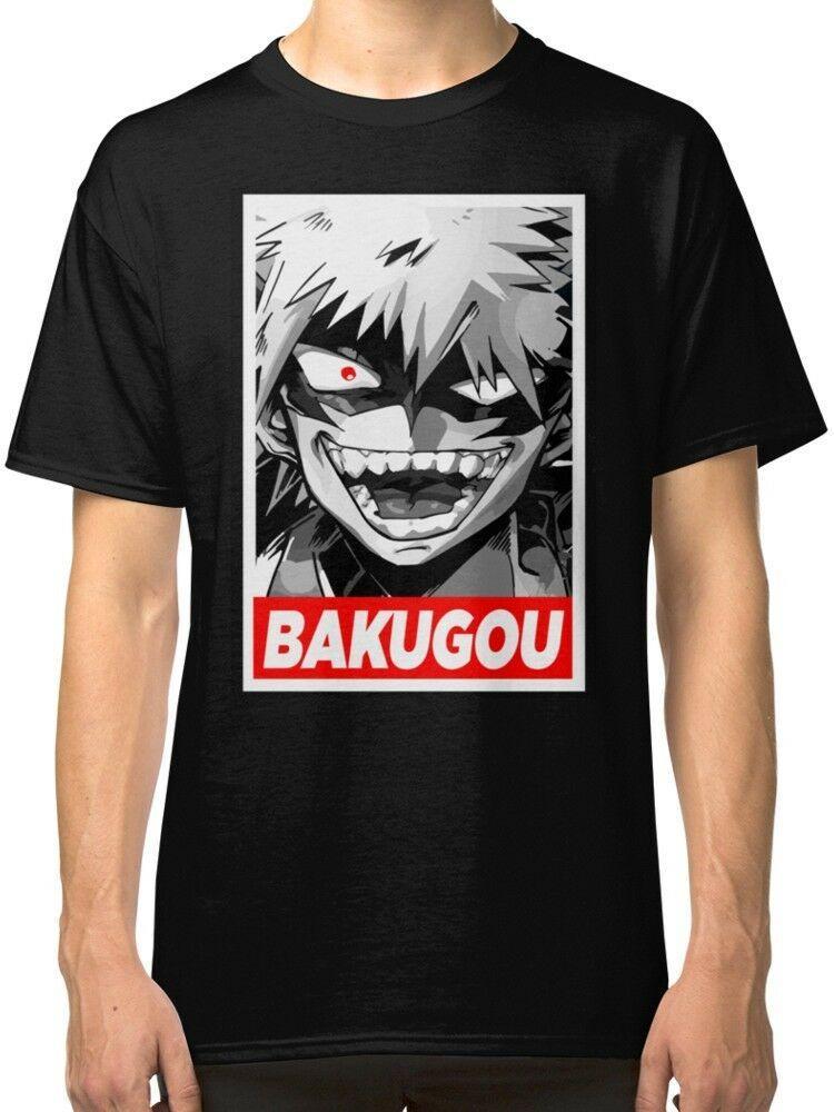 El más reciente 2020 camiseta de los hombres Katsuki Bakugo Boku No Hero Negro camisetas camiseta Ropa
