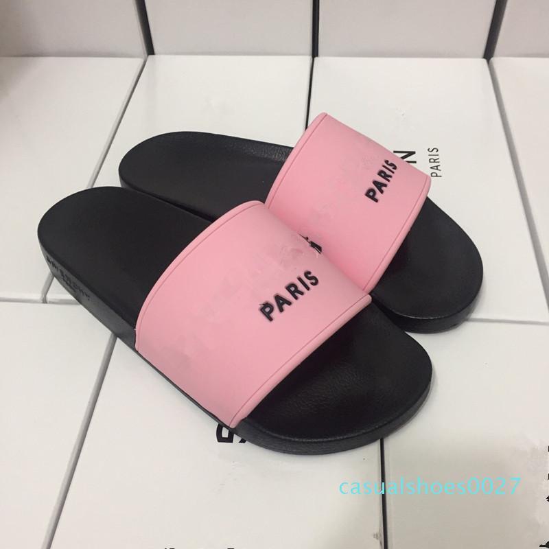 Geniş Düz Kaygan Sandalet Terlik Ayaklı C27 2019 Marka Erkekler Kadınlar çizikleri Sandalet Tasarımcı Ayakkabı Lüks Slayt Yaz Moda