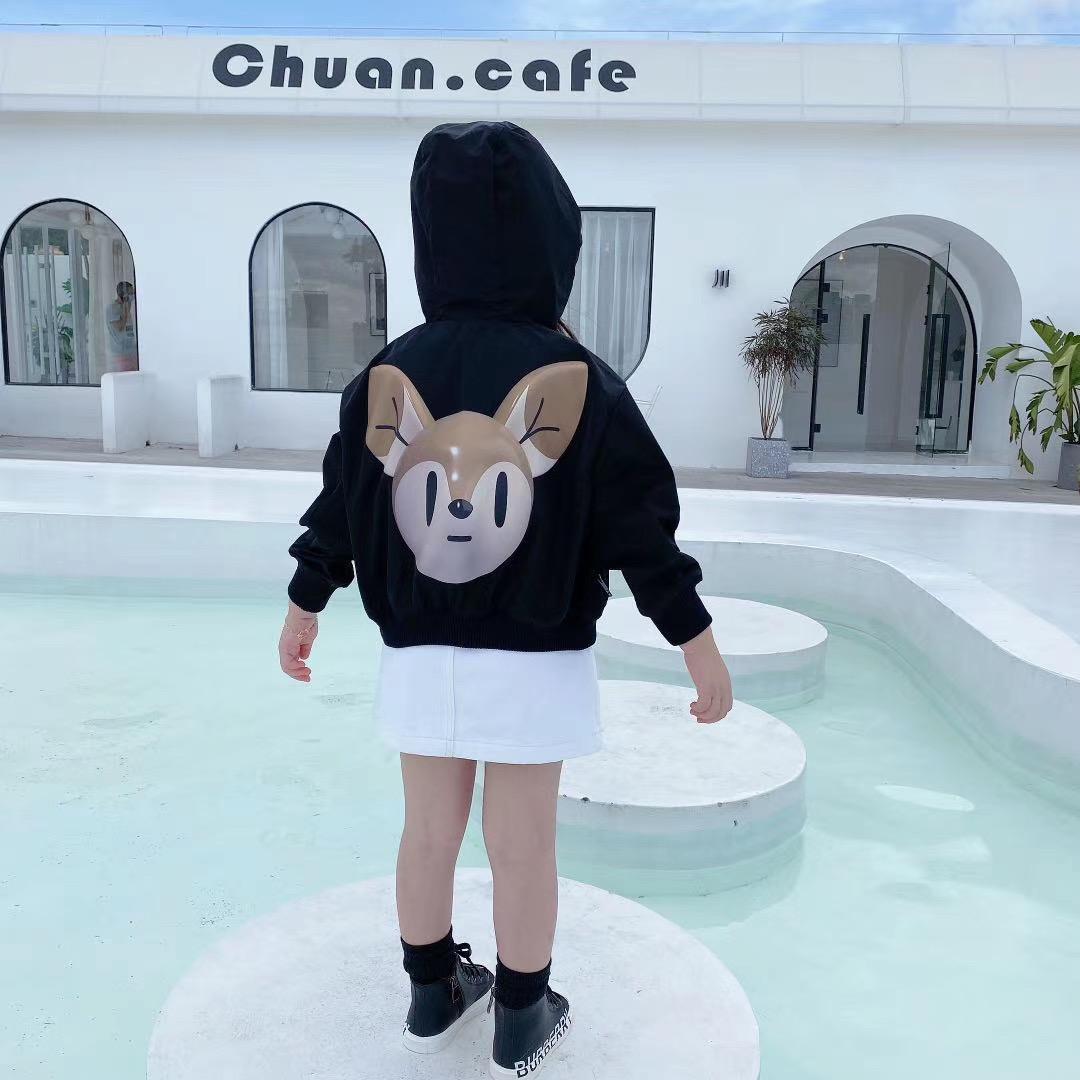 Yeni Sonbahar Bebek Boys kızlar Hoodie Coats Çocuk ceketler Bebek Kapşonlu WINDBREAKER ile Pocket Çocuk Fermuar Dış Giyim Elbise