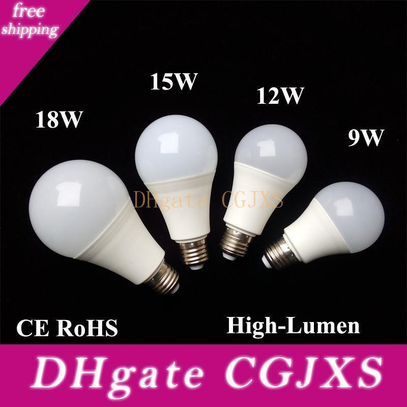 Bombilla LED Bombillas E26 E27 B22 Lámparas Energía-ahorro Global Light 9w 12w 15w 18w 110v 220v 240v Smd2835 inteligente IC de potencia real