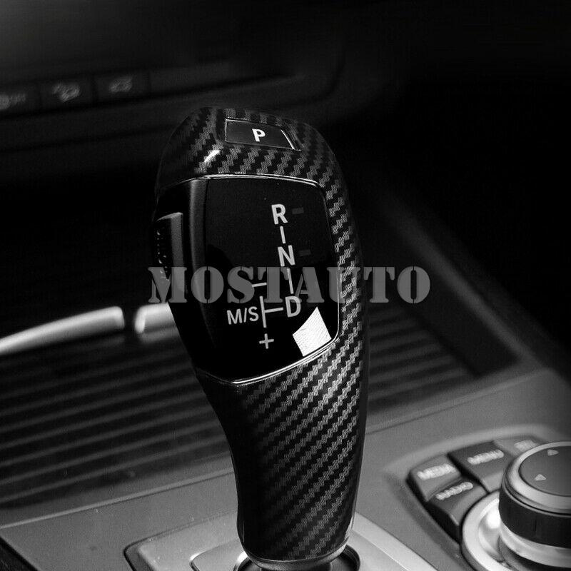 BMW X5 E70 2008-2018 X6 E71 2008-2018 X4 2013-2016 X3 2011-2016 ABS Karbon Elyaf Araba Aksesuar Vites Topuzu Kapak Trim İçin