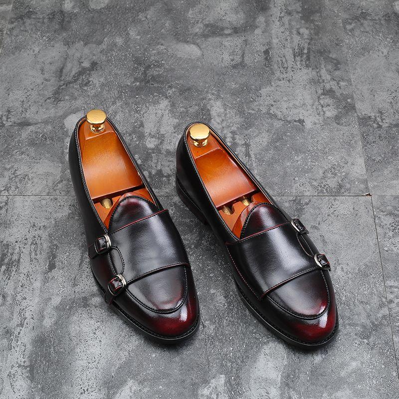 Calzature uomo in pelle Mocassini per l'uomo vestito da affari pattini di oxfords scarpe degli uomini di modo Flats CX200731