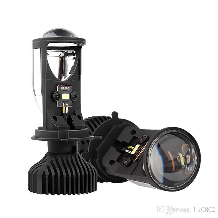 Super Bright LED Projector H4 Mini Lens Y6D LED farol lâmpadas 36W Hi Low Raio de Luz Car
