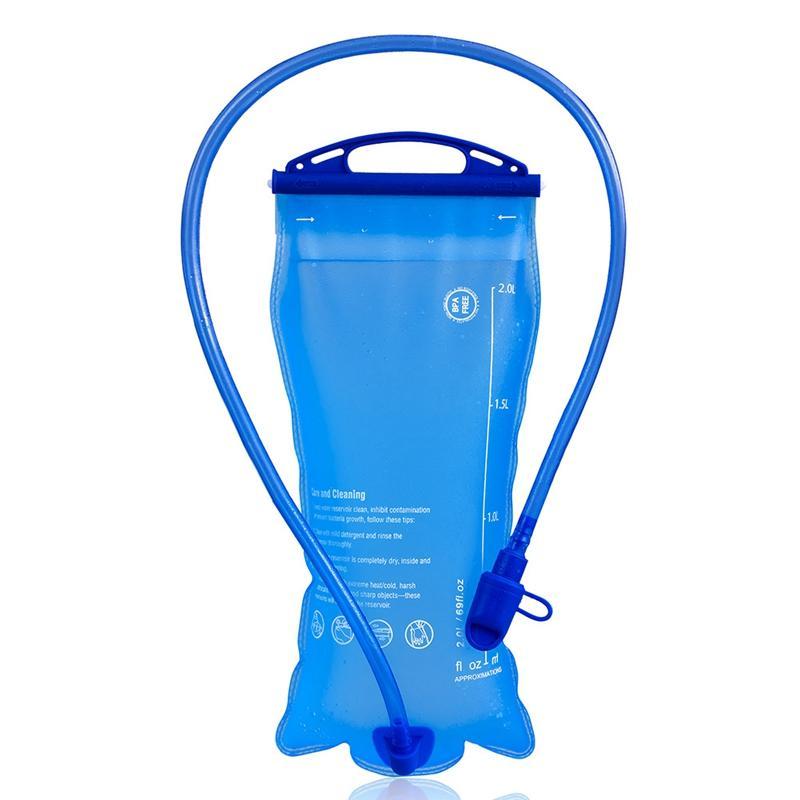 Água 2L Large Mouth TPU Water Bag Outdoor saco de desporto Ciclismo Export Backpack