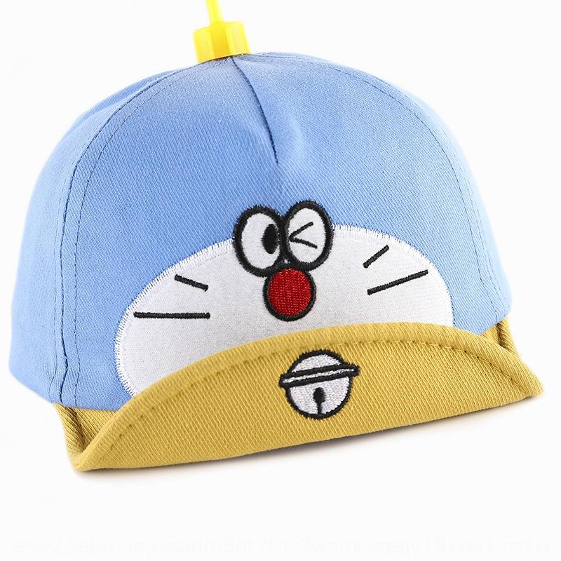 Children's hat baby cute sunshade Doraemon bamboo dragonfly cap cartoon Doraemon Dingdang cat sunshade