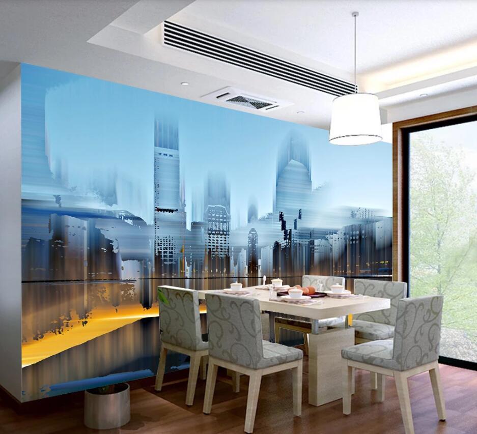 Bacal 3D Wallpaper Mural City Building Nachtlandschaft Fototapete Schlafzimmer Cafe Hintergrund-Wand-Papiere Papel De Parede Sala