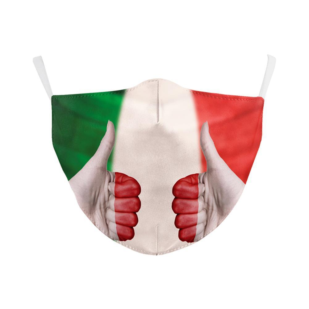 Forza Italy Spain Flag Print Cool Mask Keep Fighting Face Masks Fabric Adult Protective PM KH1U