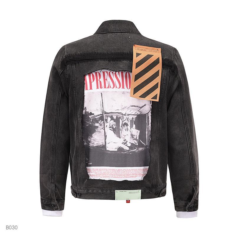 Motorrad Rock Revival Luxusmode Herrenjeansjacke, dünne dünne Jeansjacke, Mann Größe M-3XL der Männer Blau, Revers, Jacke, Mantel