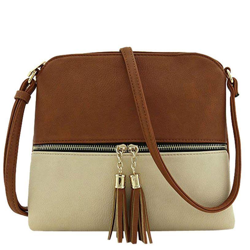 Pelle Donna Bag Messenger nappa di spalla delle signore sacchetto Ragazze Hit Bag Colore Crossbody per le donne 2020 Bolsa Drop Ship 25