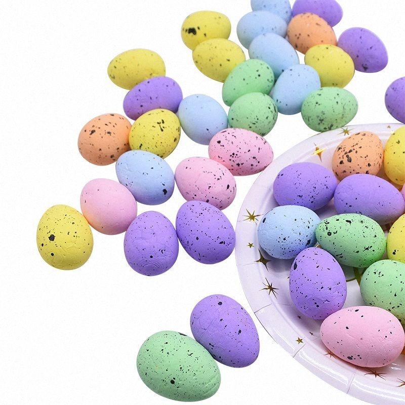 20шт 4см Multicolor Искусственная пена Пасха птица яйца DIY смазливая пены яйца ручной работы аксессуары Пасха украшения партии Supplies 0NI9 #