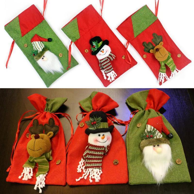 Christma Candy Bag Exquisite Weihnachtsdekorationen für Haus Neujahr Geschenk Packet Weihnachtsmann-Geschenk-Beutel