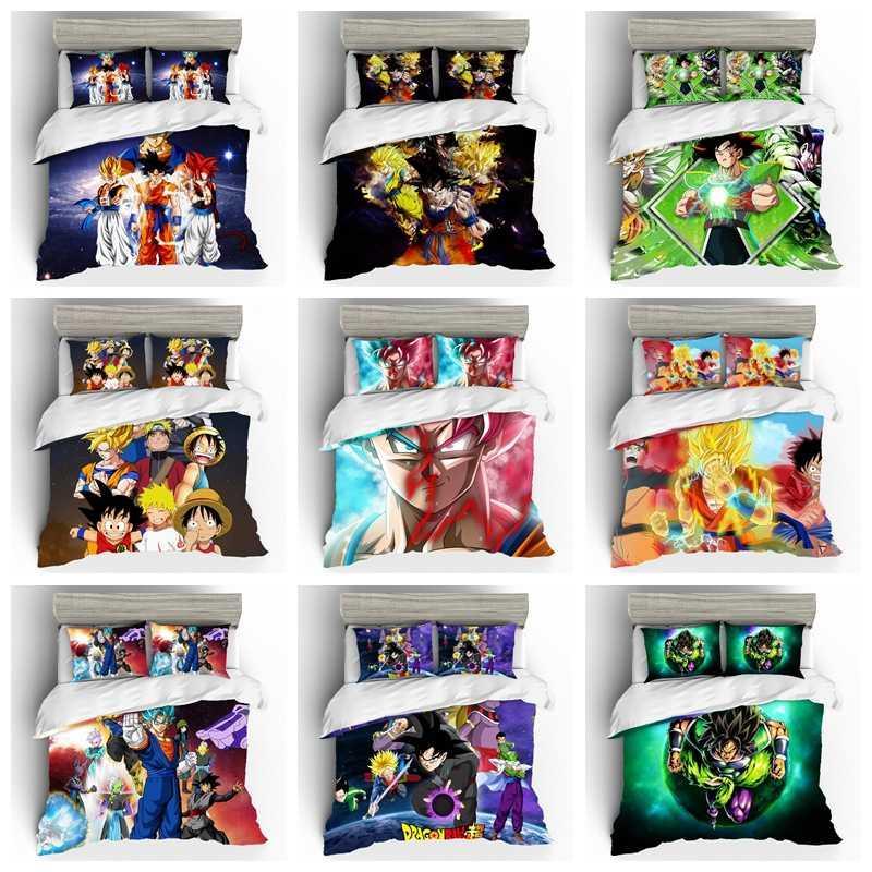 Japão desenhos animados Anime conjunto de cama lençóis e fronhas de luxo standard Tamanho Duvet Cover Ropa De Cama Lençois