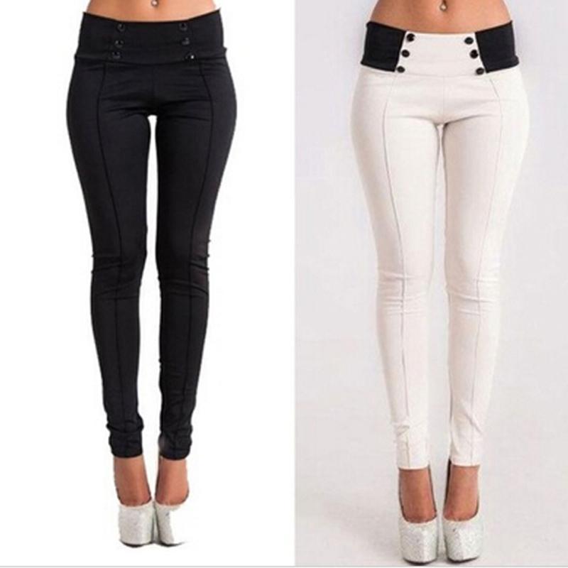 2020 Abbigliamento sportivo Pantaloni Yoga donne pantaloni della matita Femminile lungo pantaloni di stirata metà di vita Yoga diritto con Bottoni
