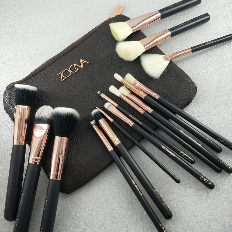 NOVO Hot Sale escova 15pcs / maquiagem Set Professional Escova Set Sombra Delineador Blending lápis cosméticos ferramentas com saco