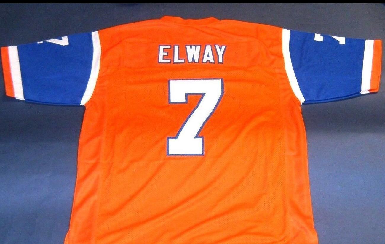 De Hombres Jóvenes mujeres John Elway del jersey del fútbol de tamaño s-6XL o costumbre cualquier nombre o el número del jersey