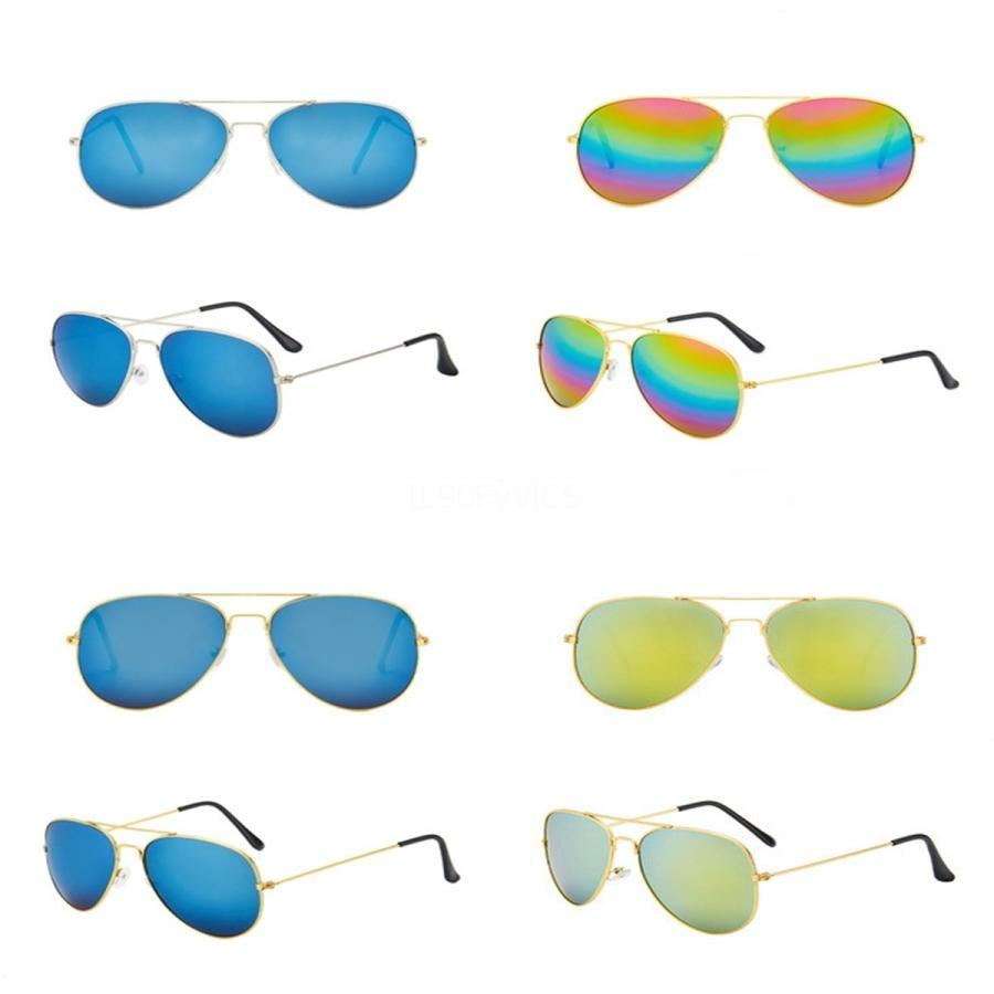 - 2020 Ot piloto gafas de sol clásicas de las mujeres Gafas de sol para las mujeres masculina rosa de la lente de gafas de sol de oro rosa Rey Ceap Gafas Wit Ag n ° 429