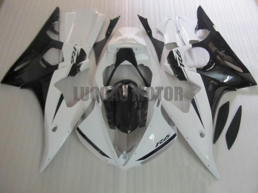ABS Body tank for YAMAHA yzf-600 r6 2003 2004 2005 YAMAHA YZF-600 r6 03 04 05 fairings kits YZF r6 2003-2005 bodykits#WHITE BLACK #T5N56