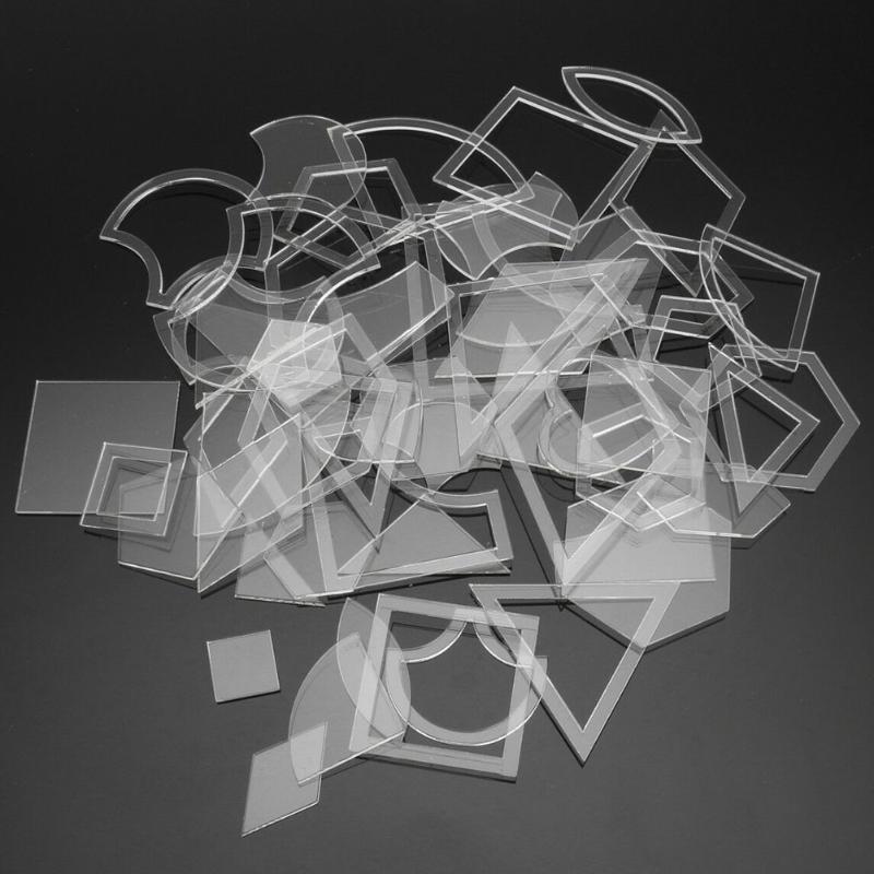 27 Conjunto de tela que acolcha mezclado hecho a mano reutilizable remiendo plantillas de acrílico transparente Regla de herramientas de bricolaje de costura Craft kit de diseño