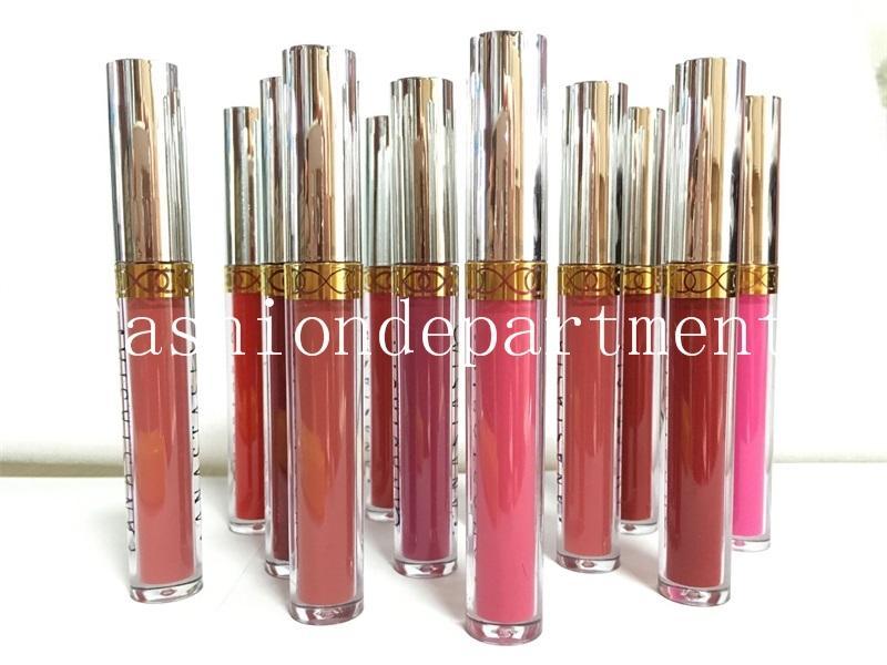 Disponibile ! Il nuovo trucco Rossetto Matte Lipgloss cosmetici Varie Disponibile 12 colore popolare = 1set