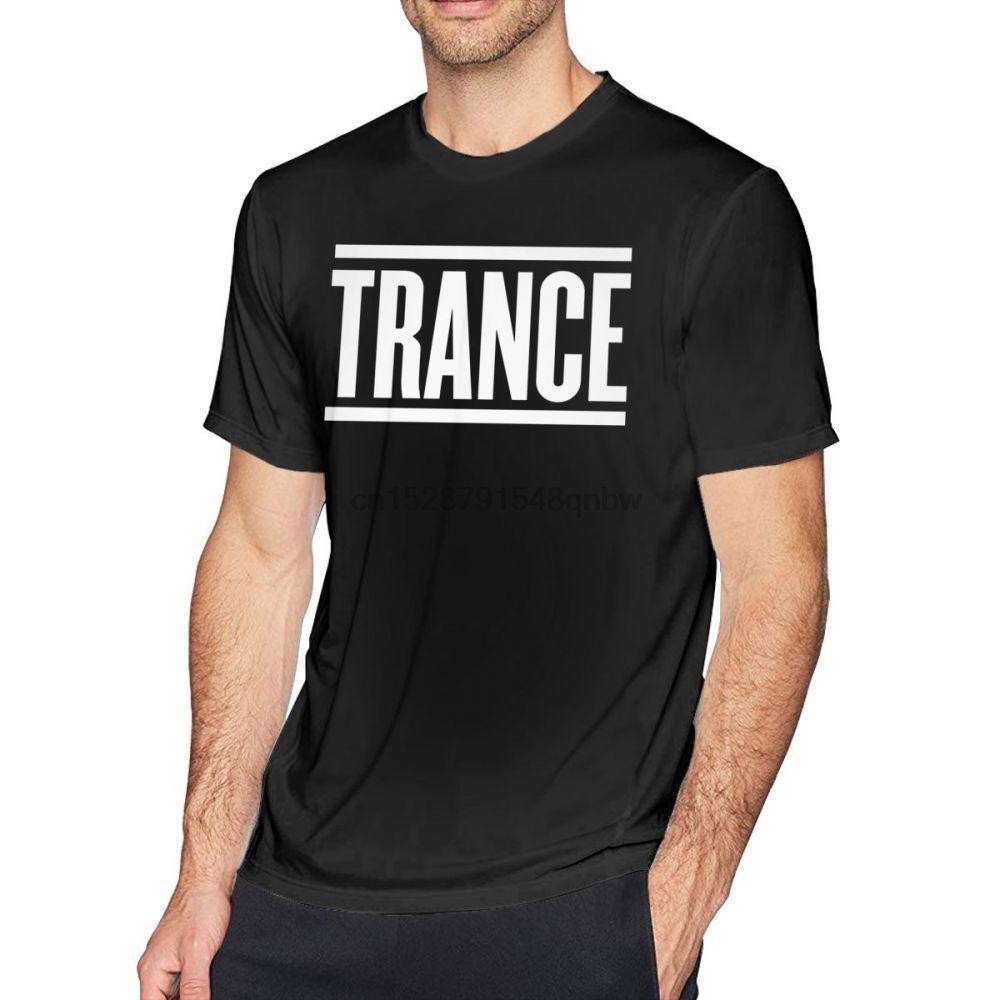 Trance Camiseta Trance T-shirt de manga curta masculina Camiseta tamanho Plus Streetwear Cópia bonito 100 por cento de algodão T-shirt