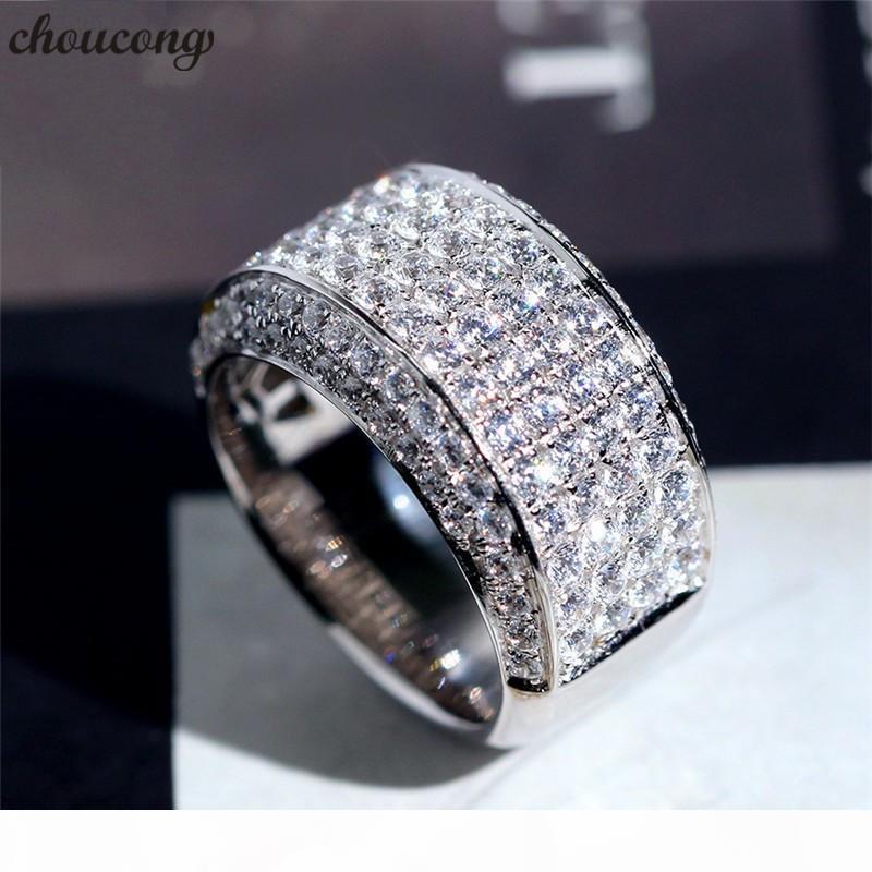 choucong Homme Promise Ring Argent 925 cz fiançailles bande de mariage Bagues de femmes Party Hommes Bijoux Cadeau