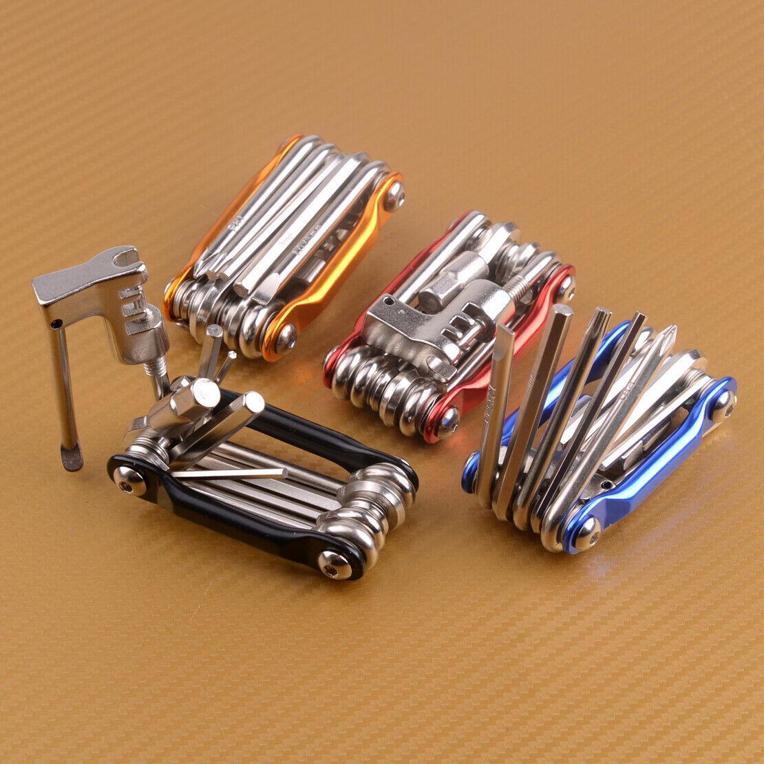 11 in 1 Multifunktionsfahrrad Hex Speichenschlüssel Schraubendreher Fahrrad-Reparatur-Werkzeug-Set MTB Straßen-Gebirgsfahrrad-Wartungstools Set
