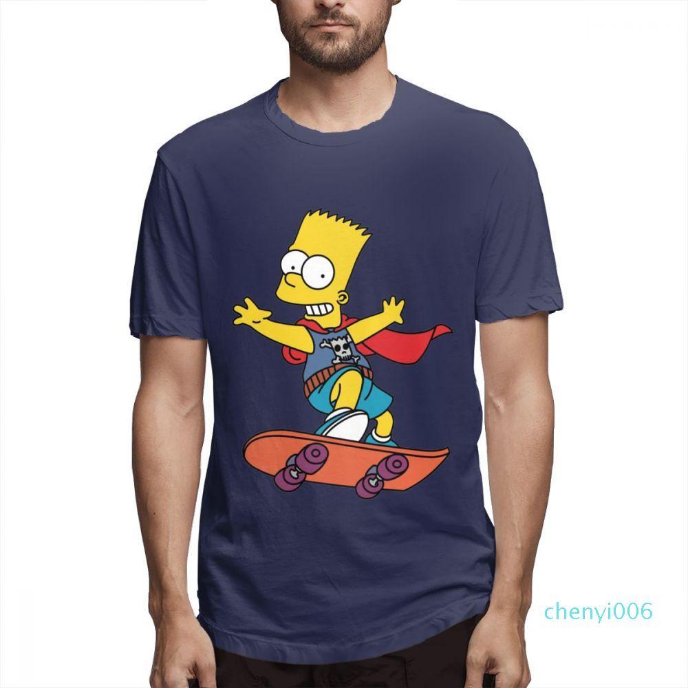 Camisas del diseñador de moda para mujer para hombre camisas de manga corta Los Simpson camiseta impresa Causalcasu Mens Tops Impreso camisas s910c06
