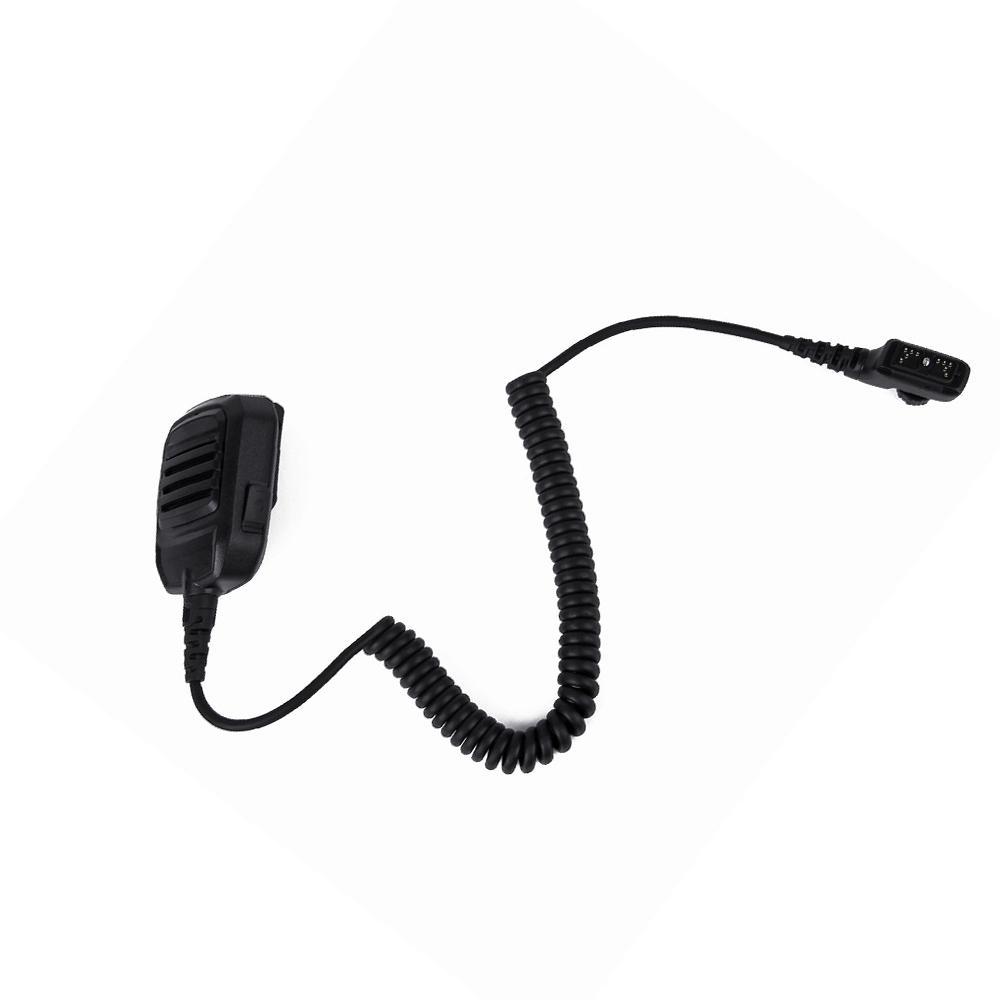 Black Waterproof Speaker Microphone for Walkie Talkie Hytera HYT PD780 PD700 Portable Radio Shoulder Speaker for Two Way Radio