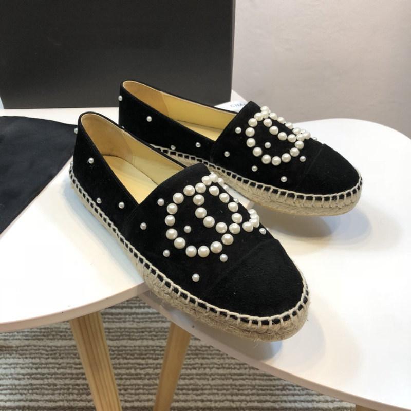 Marca Mulheres de couro de vaca Plano Plataforma Shoes Alpercatas Loafers Pérola Beading Deslizamento-na Mocassins Casual macia pele de carneiro Flats, 34-42 lts3