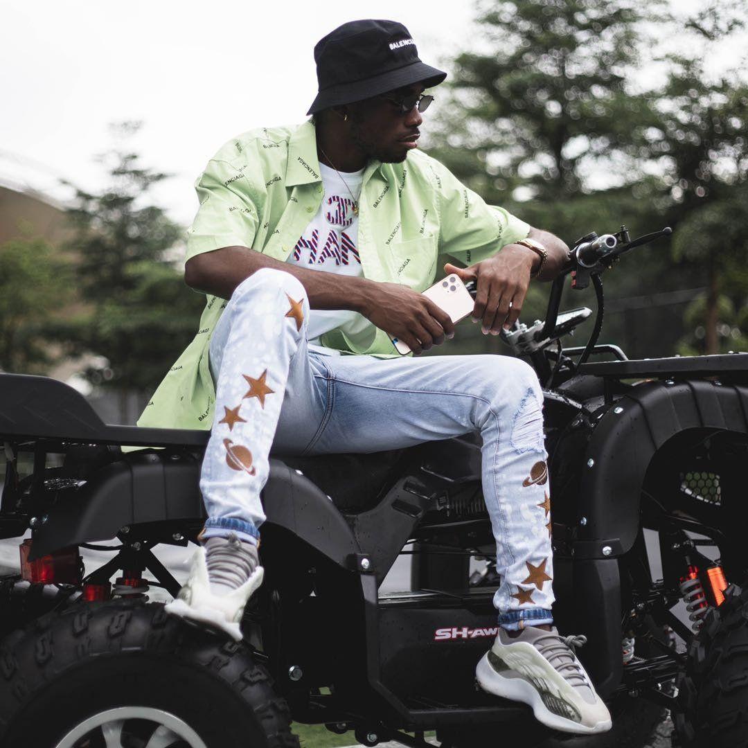 Новый Стилист Мужские шорты Тощий С Тонкий эластичный джинсовой моды велосипед Брюки мужские Брюки Ripped Hole Jean Для мужчин S142 #