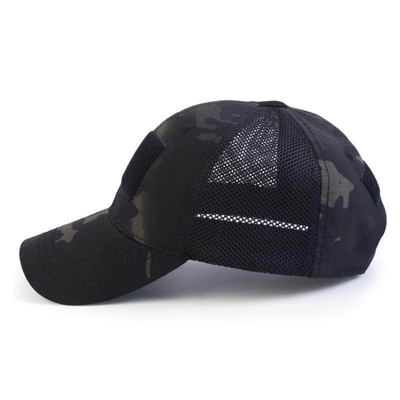 야외 모자 사냥 메쉬 모자 전술 육군 모자 스포츠 스냅 백 스트라이프 위장 단순성 카모