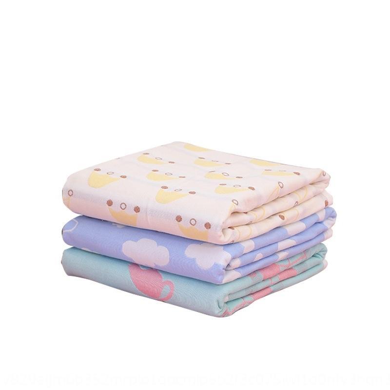 Soins infirmiers bébé pad fessier fessier pur bébé de gaze en coton imperméable respirant grande lavable pad de soins quatre saisons