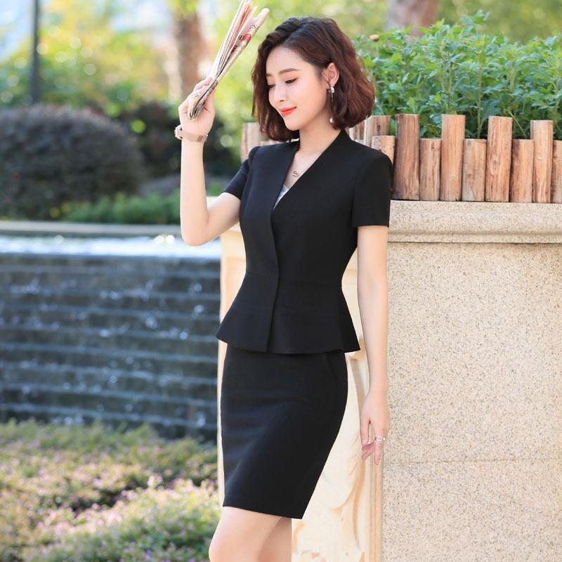 ZR0qh KY8851 costume moulants à manches courtes occasionnel outillage OL tempérament usure col blanc robe de vêtements d'affaires décontractée Outils non-repassage /