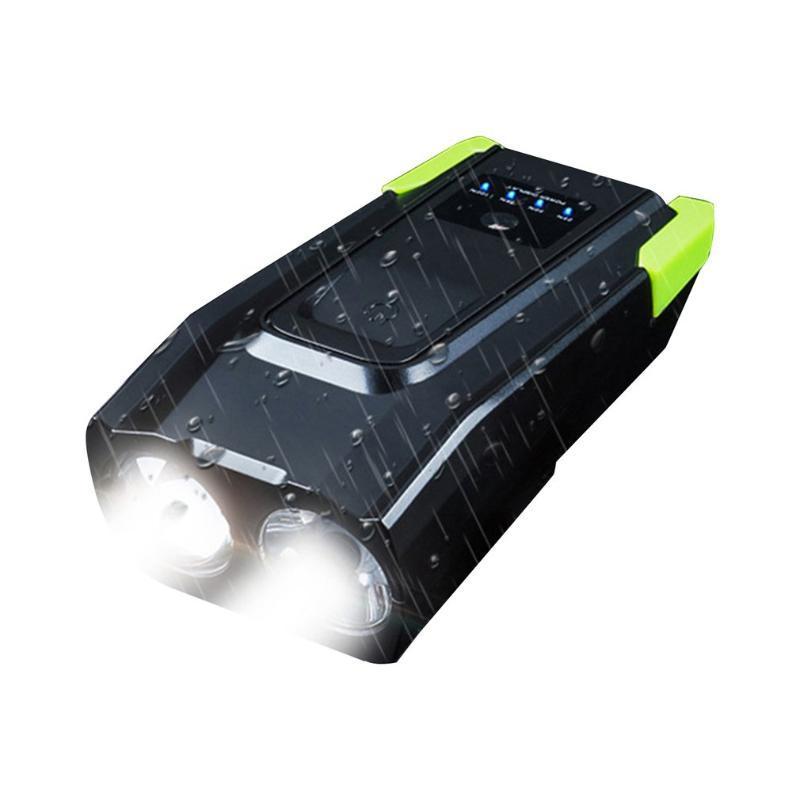 4000mAh inteligente de indução de bicicleta Front Light Set USB recarregável 800 Lumen LED Head Light com chifre Ciclismo