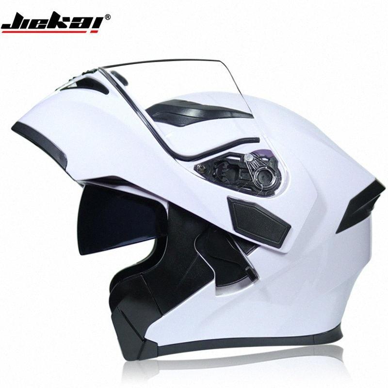 FREIES VERSCHIFFEN JIEKAI WEISS Motorrad-Schlag-up Winter Helme Sicherheit Racing Motocross Capacete Quad Dirt Bike Helm 8MlE #